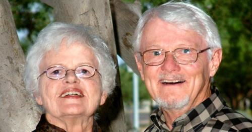 A joyful Bill and Harriett